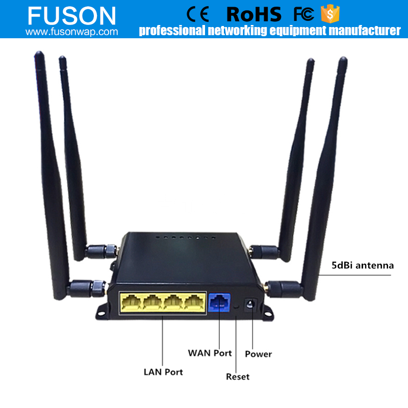 MT7620A 4G wifi USB 2.0 2.4GHZ VPN four antennas celullar router