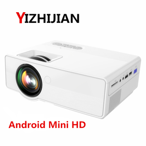 [Hot selling] Mini android wifi smart hd LED portable mobile video home theater projector beamer