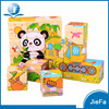 Custom Preschool Educational Block Set Wooden Cube Puzzle