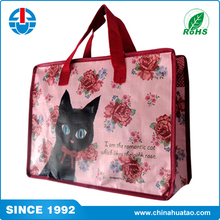 Fugang CAT design Large Multi-purpose Tote Recycled PP Woven LCBO Grocery Bags