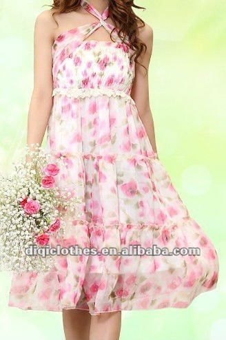 dreaming bohemia lady dress with flower pattern