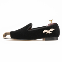 Best Men Velvet Slippers With Gold