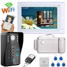 "7"" TFT Wired / Wireless Wifi RFID Password Video Door bell camera with Electric Strike Lock"