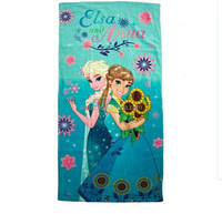 China import 100% cotton hot sexi girl photo printed beach towel with cartoon animals
