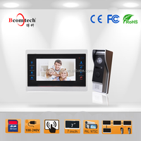 7 inch touch button color video door phone for smart home