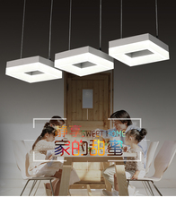 Simple modern style LED hanging pendant light with 3 head for office/dining room 8003
