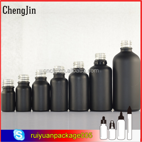 10ml 15ml 30ml 50ml 100ml black Frosted glass dropper bottle of e liquid e juice essential oil in the stock