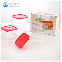 wholesale 3 inside smaller box easy to divide the food heatable stylish plastic crisper food storage container