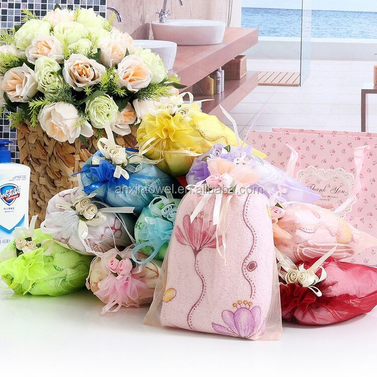 Delicate Towel Gift Ideas /Wedding Gifts For Guests,Wholesale Good Packing Towel Gift Ideas