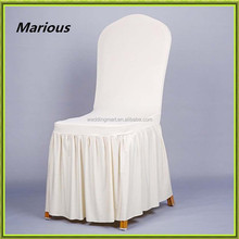New arrival spandex wedding fancy chair cover skirting