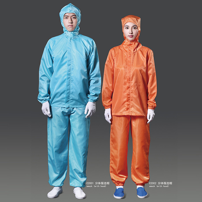 Wholesale Polyester ESD Feature Protective Clothing for Electronic Factory