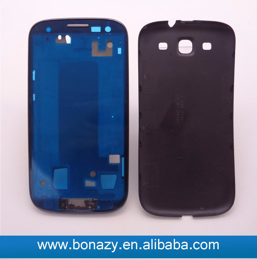 Replacement Middle Frame housing and battery door back cover for Samsung Galaxy S3 i9300