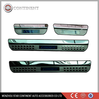 car accessories stainless steel car led door sill for CRIDER