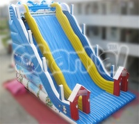 Winter Snow Theme Inflatable Skiing Slide