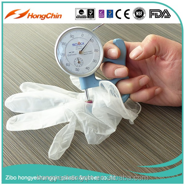 vinyl clear powder free gloves 5.0g disposable