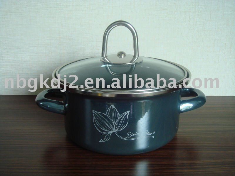 Enamel Kitchenware Cookware With Mirror Face