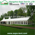 Wedding tent with aluminium and PVC windows (8x18m)