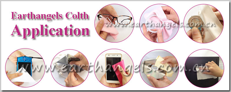 Custom CMYK Printed Microfiber Glasses/Eyeglasses/Sunglasses Cleaning Cloth