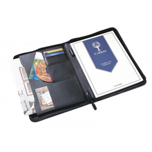A4 Conference Folder Faux Leather Portfolio Presentation Folio Zip Presentation Folder Printing