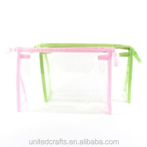 Clear PVC Cosmetic Zip Bag / Make Up / Toiletry / Washbag -Large 23 x 13 x 6.5cm