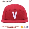 red snapback hat,patch snapback hat,5 panel snapback hat cap