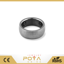 POYA Jewelry Unique 7mm Titanium Magnetic Band Ring