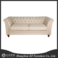 button crystal tufted sofa