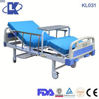 HOT SALE 3 function two crank manual hill rom hospital bed