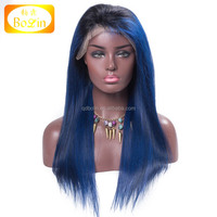 Wholesale ombre color 100 brazilian virgin hair full lace wigs For Black Women