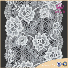 Hot selling flower gray lace trim for underwear