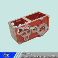 grey iron precision casting cnc machining gearbox housing for oil engine part