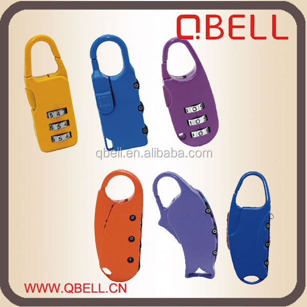 Mini Padlock, 3 digital combination Luggage Lock