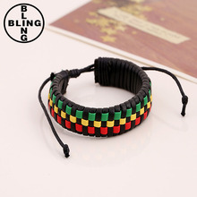 >>>2017 hot sales fashion weaving charm mix color bracelet hand strap hand make leather bangles