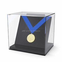 acrylic hanging medal display stand case clear