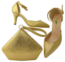 Fashion Italian Woman Shoes With Matching Bag/High Quality Shoes And Bags Set For Wedding/Italy shoes and bag BCH-30