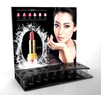 China wholesale acrylic cosmetic display lipstick stand holder/shop shelf display cosmetic