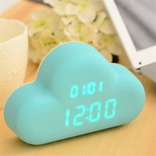 Smart Light Voice Recording Digital Snooze Alarm Clock, Timer with Date and Temperature Display