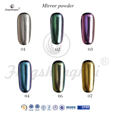 fengshangmei magic mirror powder hot sale mirror effect colorful mirror nail chrome powder