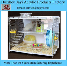 China manufacturer wholesale acrylic luxury hamster cage,clear glass cage for hamster