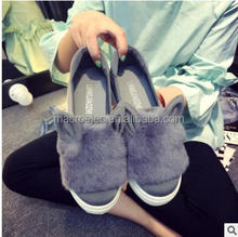 2017 Wholesale hight quality new winter rabbit ears Maomao shoes Korean leisure shoes girls leisure shoes