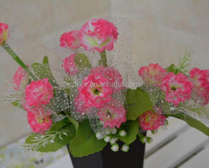 2014 plastic artificial flowers,artificial flower bunch