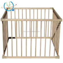 Adjustable wooden cot design/playpen for baby