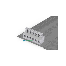 4 pin plastic connector PCB single gray spring 5.0mm terminal blocks