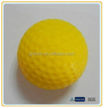 Hot Selling Custom Bulk Yellow PU Foam Golf Anti Stress Balls For Promotion
