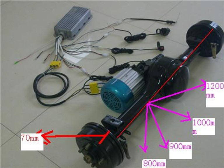 electric car conversion kit(motor,rear axle and front fork)