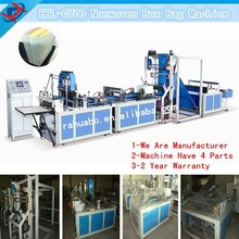 Look here!High speed low price auto non woven bag machine full non-woven fabric box bag making machine