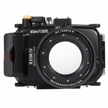 China brand PULUZ 40m Underwater Depth Diving Case Waterproof Camera Housing for Sony RX100 IV