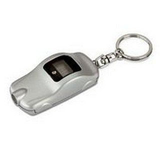 Car shape digital tyre gauge keyring/keychain/key ring/key chain