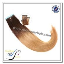 wholesale price tape hair remy human hair skin weft easy to wear and hair extensions