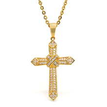 Marlary Wholesale Catholic Ornaments Hip Hop Jewelry Micro Cubic Zirconia Paved Jesus Crucifix Pendant